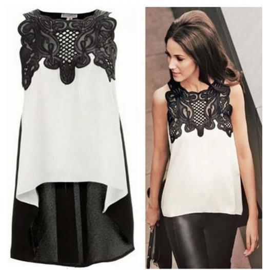 Elegant Ladies Tops White & Black