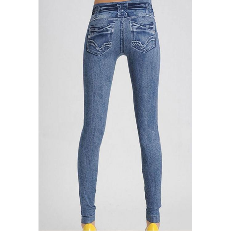 Simple Jeans Leggings Blue