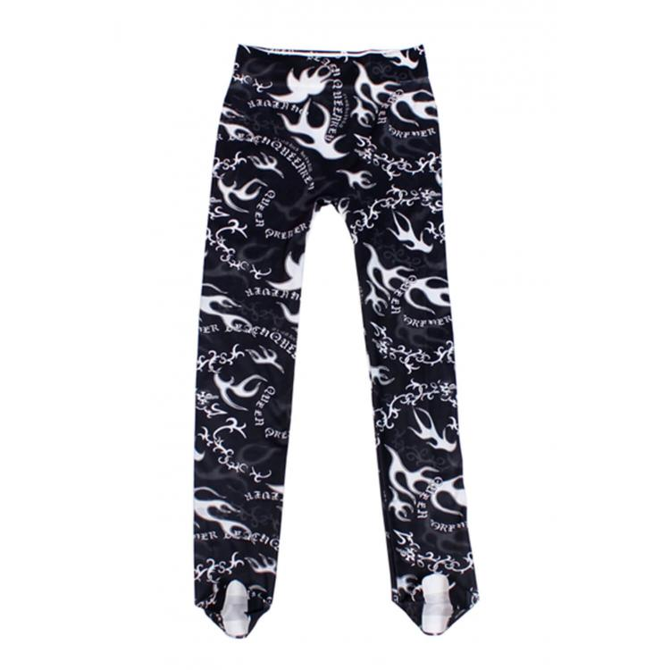 Tattooing Print Legging Black