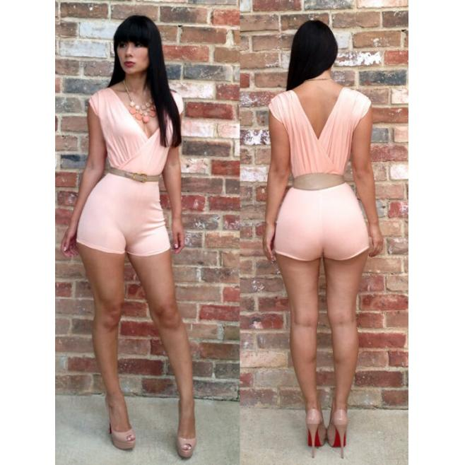 Pink Short Jumpsuit