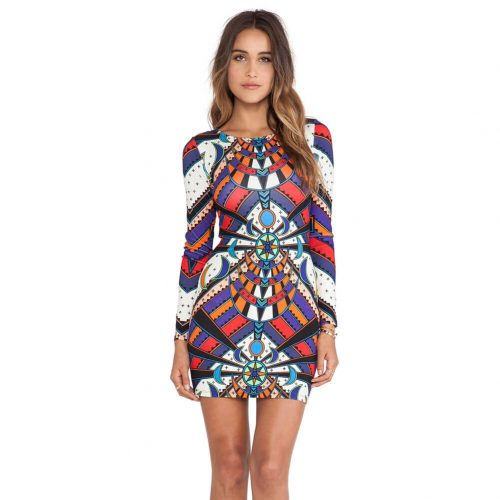 Multicolored Women Bodycon Dress