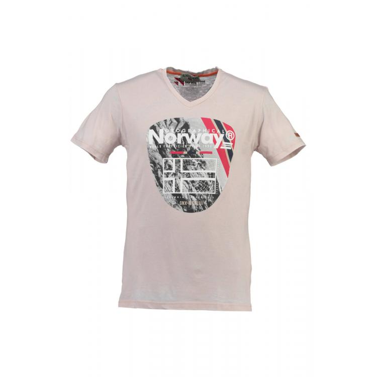 Man T-shirt Geographical Norway